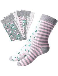 10 Paar süße Damen Socken mit verschiedenen Mustern - Freizeit, Arbeit, Sport - Qualität von celodoro