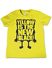 Offizielles Lizenzprodukt Yellow Is The New Black Unisex Kinder T Shirts Ages 3-12 Jahre