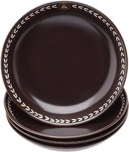 laguiole 437294 vaisselle en gr s lot de 4 assiettes. Black Bedroom Furniture Sets. Home Design Ideas