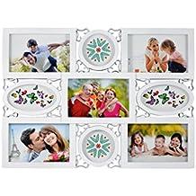 Marco multifotos de PVC- Color blanco (43x31.5 cm)