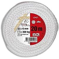 Chapuis fdb620–Cuerda de polipropileno trenzado (–Resistencia a la rotura indicative 360kg–Diámetro 6mm–longitud 20m–blanco
