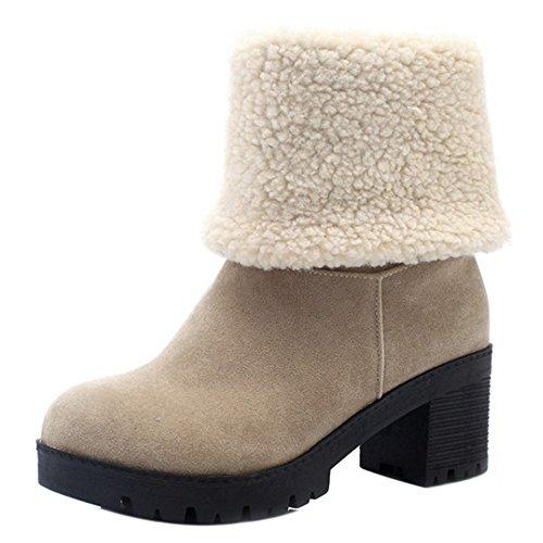 Donna Donna Taoffen Taoffen Indossando Beige Stivali Stivali Beige Indossando Taoffen P7Zd4wcqx
