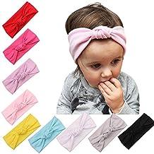 Tongshi 2016 bebé niño lindo chicas niños arco diadema turbante Nudo conejo diadema Headwear( Rosa)