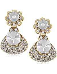 Meenaz Jewellery Gold Plated Ear Rings For Girls In American Diamond Earring For Women In Jewellery Necklace Earring-TR164