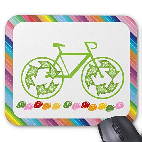 ads Custom, Cycle Recycle Mouse Pad 11.8