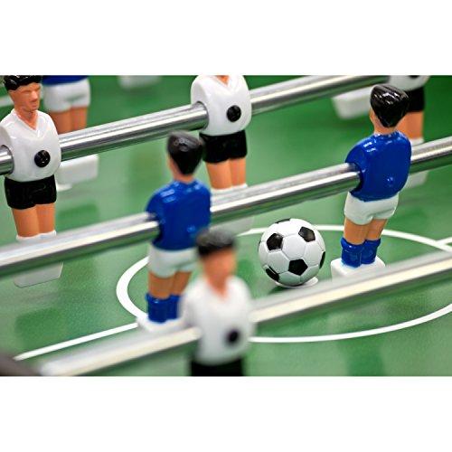 """Tischfussball """"Belfast"""" KLAPPBAR, 3 Farbvarianten: Schwarz / Holzdekor hell / Holzdekor braun, nahtlos hochgezogene Spielfeldecken, inkl. 2 Bälle, Tischkicker Kicker Kickertisch faltbar -"""
