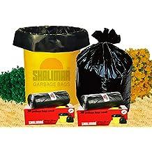 Shalimar Premium OXO - Biodegradable Garbage Bags (Small) Size 43 cm x 51 cm 6 Rolls (180 Bags) ( Dustbin Bag / Trash Bag ) ( Black Colour )