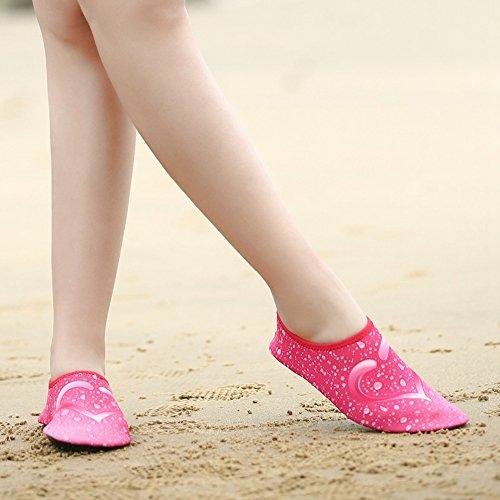 Romacci Unisex Aquaschuhe Strandschuhe Weiche schnelltrockene rutschfeste Schwimmschuhe für Damen&Herren Polyester Gewebe Schuhe 36