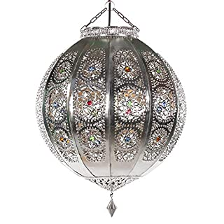 albena marokko galerie 13-170 Rana moroccan ceiling lamp ø 40cm metal silver