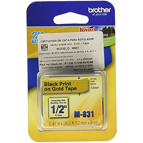 Brother M831 etiqueta de impresora - Etiquetas de impresora (Oro, M, 26.2 ft)