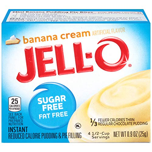 Jell-O Sugar Free Banana Cream Fat Free Pudding & Pie Filling (25 g)