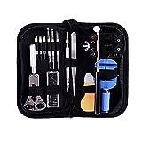 ohuhu reg; - Kit professionale con 13strumenti per riparazione di orologi/astuccio porta utensili per orologiaio, martelletto gratuito in regalo