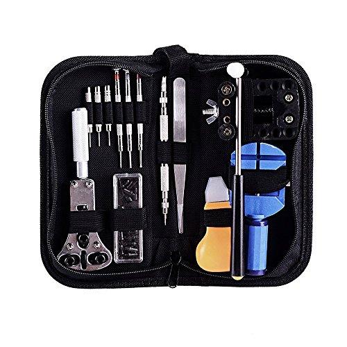 Ohuhu Profi Set 13Werkzeug für Reparatur von Uhren/Federmäppchen Werkzeugstahl für Uhrmacher Bonus einen Hammer kostenlos