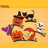Haarnadeln, Halloween, Kürbis-Haarklammern, für Kinder, Kostümschmuck, 6 Stück