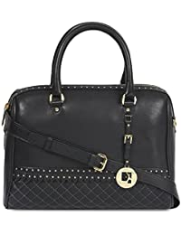 Da Milano Women's Handbag (Black) (LB-4053_BLACK_WAX/QUILTING)