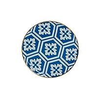 Porland Morocco Düz Tabak Desen2 Mavi 20cm, Porselen