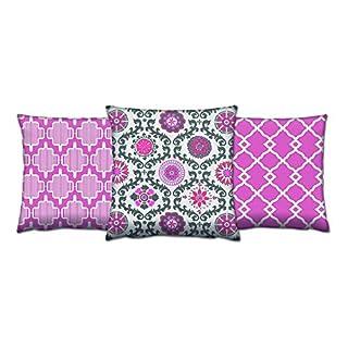Asir Group LLC 417GRV0167Gravel Cushion Set-3Pieces Colourful