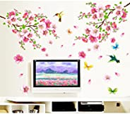 Decals Design 'Flowers Branch' Wall Sticker (PVC Vinyl, 60 cm x 90 cm),Mu