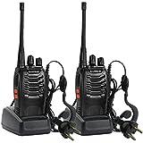 Baofeng BF-888S UHF FM Transceiver éclairage Haute Lampe de Poche Talkie Walkie Two-Way Radio + 2 Earphones (2pcs)