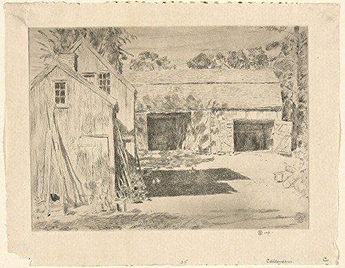 Das Museum Outlet-Connecticut Scheunen, gespannte Leinwand Galerie verpackt. 29,7x 41,9cm