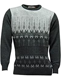 Mens Crew Neck Sweater - Charcoal