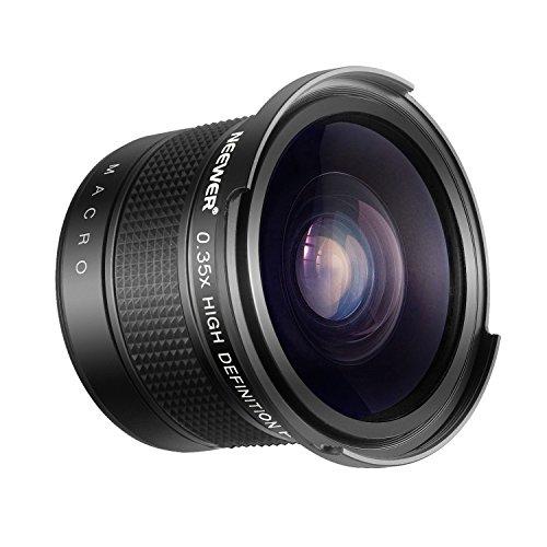 Neewer 52mm Obiettivo Grandangolare con Effetto a Occhio di Pesce 0,35X con Porzione Macro Close-Up per Reflex Digitali Nikon D7100 D7000 D5500 D5300 D5200 D5100 D3300 D3200 D3100 D3000