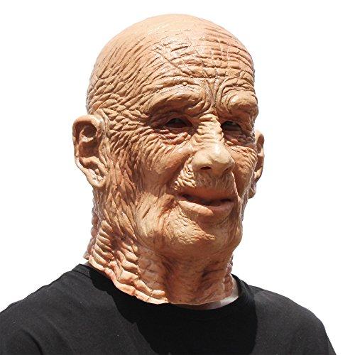 PartyCostume - Der Alte Mann Maske - Realistische Halloween Latex Der Mit Gesichtsmaske (Versuchen Halloween-kostüme Männer)