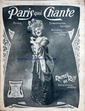 PARIS QUI CHANTE [No 109] du 19/02/1905 - RACHEL DE