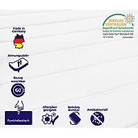 Mister Sandman 7 Zonen Matratze, Härtegrad H2&H3, 2in1 Liegehärten, Rollmatratze Öko-Tex (90 x 200 cm - H2&h3)