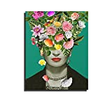 Poster Wandkunst Gedruckt Leinwand Gemälde Für Zimmer Frida Kahlo Porträtmalerei Künstler Selbstporträt Dekoration Wand-dekor Bild Bereit zu hängen