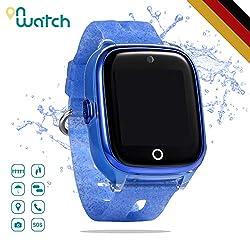 ON WATCH Smartwatch Kinder GPS + WiFi + Lbs + Agps mit SIM Karte, Kamera, wecker, chatten, Aktivitätstracker und vieles mehr Uhr mädchen um Ihre Kinder im Auge zu behalten (Blau)