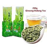 Spedizione gratuita! 250g (0,55LB) Famoso Health Care Taiwan Ginseng Oolong Tea, tè cinese Ginseng, Wu tè lungo verde cibo oolong tè verde