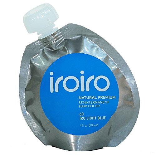 Iroiro Premium Natural Semi-permanenten Haar Farbe 60Iro-hellblau 4Oz