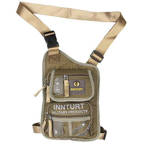 Muslo Pierna bolsa, bolsa, innturt táctica riñonera, bolsa de senderismo, bolsa de cadera, pierna bolsa, verde