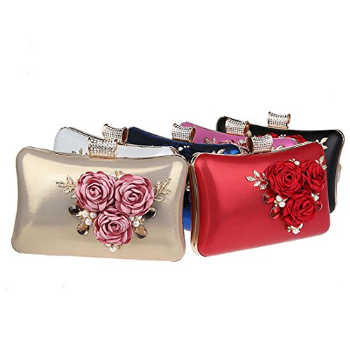 YYW Evening Bag, Poschette giorno donna Red