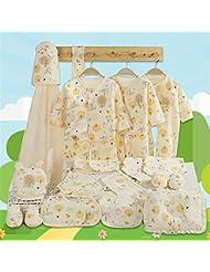 SHISHANG Boîte cadeau pour bébés Ensemble cadeau 100% pur en coton (17 ensembles) (22 ensembles) Vêtements pour bébés Garçon fille Four Seasons pour bébé 0-1 ans
