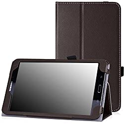 Moko Slim Folding Cover For Samsung Galaxy Note Pro 12.2, Tab 3 Lite 7.0, Tab 4 7.0, Tab 4 8.0, Tab 4 10.1, Tab Pro 8.4, Tab Pro 10.1 Brown Brown Pour Galaxy Tab 4 8.0