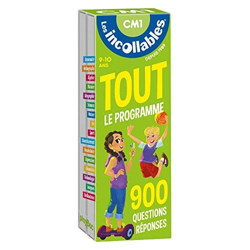 Les incollables - Tout le programme du CM1 - 9/10 ans: 900 questions réponses pour réviser en 2 éventails- Cahier de vacances par -