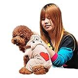 Hawkimin Haustier Kapuzenpullover Bär Herzförmig Baumwollmischung Nettes Overall Mit Kapuze Hunde Mantel Hündchen Rock Pullover