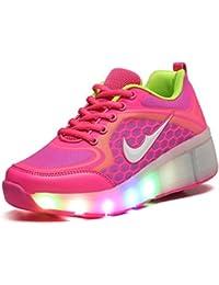 Adingshine Ninos Zapatos con Ruedas y LED