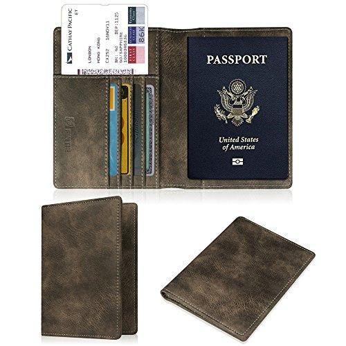 Fintie Porte-passeport Housse - Voyage Protecteur Porte-feuille Pochette étui de protection pour passeport, Dark Grey
