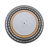 UFO LED Hallenstrahler 100W LED Fluter Industrieleuchte 6000K High Bright Fabriklampe 165 SMD 3030 Kaltweiß Licht aus Aluminum Kronleuchter Werkstattbeleuchtung Lagerhallenbeleuchtung (100W)