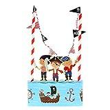 Generic Hochzeit Geburtstagsparty Kuchendeckel 14 Banner Flagge Parteidekor # Kuchen Ammer - Piraten