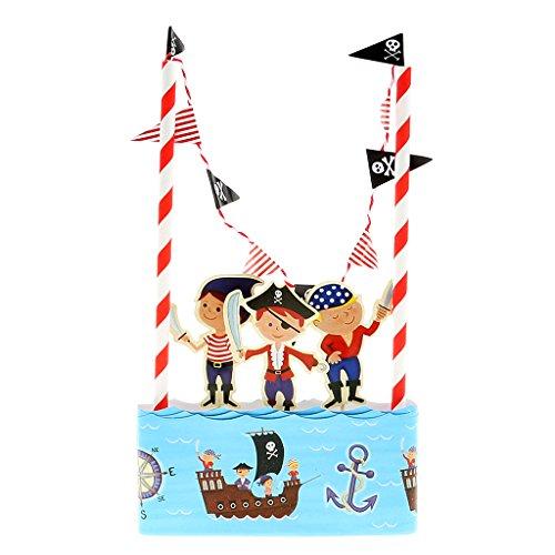 Hochzeit Geburtstagsparty Kuchendeckel 14 Banner Flagge Parteidekor # Kuchen Ammer - Piraten Banner-kuchen-deckel