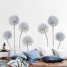 ALLDOLWEGE Adhesivo resistente al agua simple Cuartos románticos Jaramago vinilos decorativos cabecero decoraciones de pared autoadhesivas de papel de pared de Arte ,120*70 Cm.