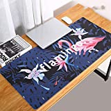 Thboxes Fashion Pattern Oversized Precision Pro Gaming Mouse Pad Computer Desk Mat Flamingo 700x360