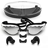 Swimming goggles with Anti Fog Technology for Women and Men - Customisable Nose Bridge for the...