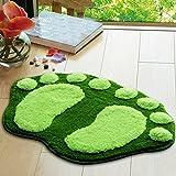 Picturer7Fußabdruck Mikrofaser Bad-Teppiche Rutschfeste Gummi Rückseite Badezimmer Läufer Teppich Home Badteppich Teppich, grün, Free Size