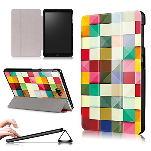 Xuanbeier Ultra Slim Custodia Leggero Supporto Smart Cover con Funzione Sleep/Wake per Samsung Galaxy Tab A6 10.1 25,7 cm sm-t580 N T585 N,Cube