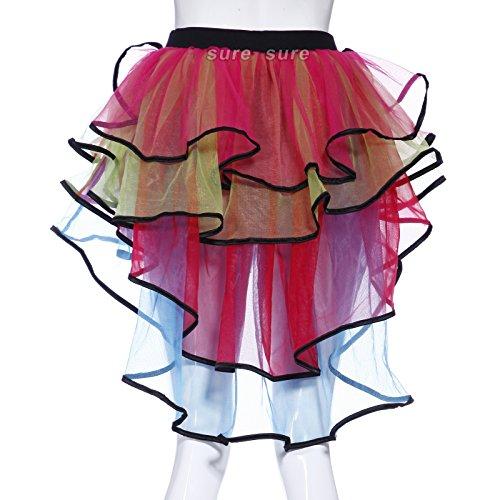 1980s-80s-Layered-Tiered-Neon-Flo-UV-Rainbow-Burlesque-Bustle-HEN-NIGHT-Halloween-Rara-Rave-Party-Ruffled-Frill-Tulle-Tutu-Skirts-Fancy-Dress